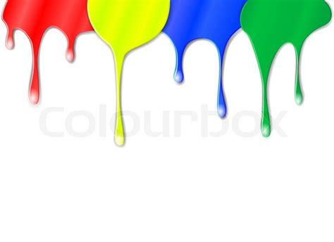 vector drips of color paint vector colourbox