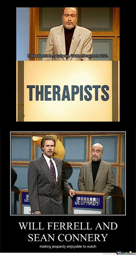 snl jeopardy sean connery therapist video will ferrell and sean connery making jeopardy enjoyable by