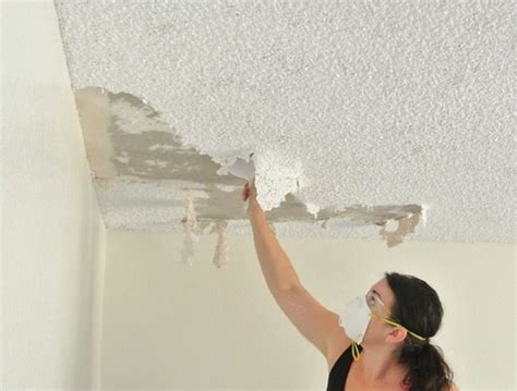 removing popcorn ceiling with asbestos asbestos popcorn ceiling buyers ask
