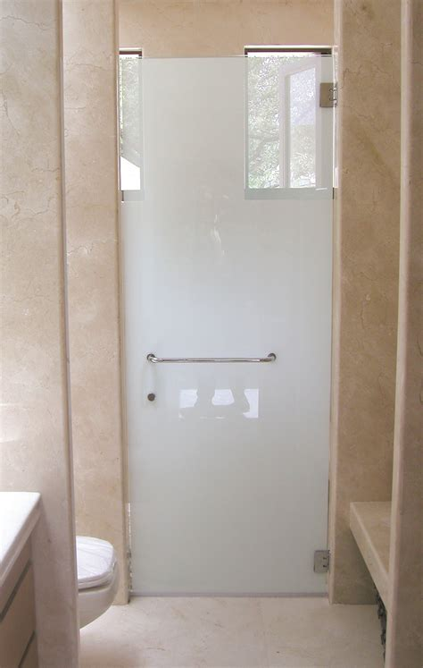 Frosted Shower Glass Doors Frosted Glass Doors Bathroom With Modern And Minimalist Design Plus Marble Wall And Ceramic