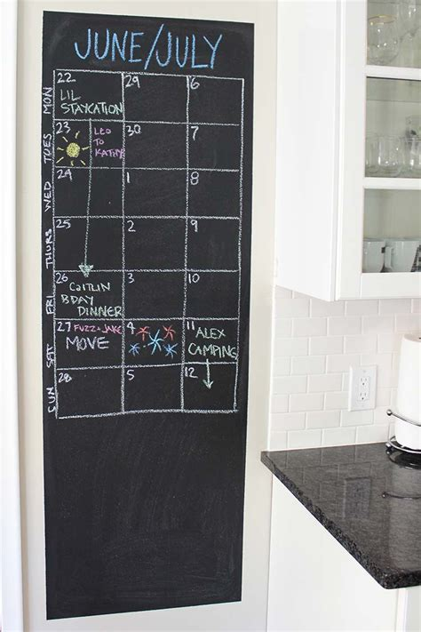 Chalkboard Wall Calendars Chalkboard Wall Calendars That Put Your Skills To The Test