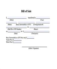 bill of sale template for atv sle atv bill of sale forms 7 free documents in word pdf