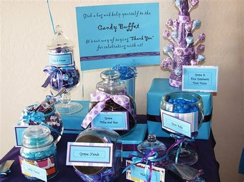 wedding candy bar purple and blue wedding ideas wedding