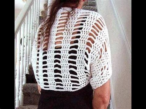 crochet white shrug   diy womens small summer