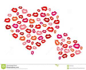 hearts and kisses royalty free stock images image 33679129