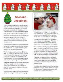 Ms word christmas letter templates christmas letter paper stationery