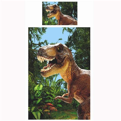 jurassic park bed set jurassic t rex dinosaur single duvet cover set exclusive bedding park