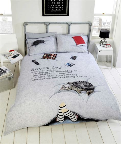 cat comforter bedding duvet day cosy cat ipad ipod 3d photographic duvet quilt