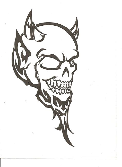 devil tribal tattoo by thefuzzydude on deviantart