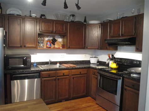 Resurfacing Kitchen Cabinets by Refinishing Oak Kitchen Cabinets With Gel Stain Kitchen
