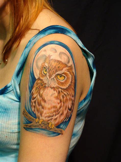 girl owl tattoos 50 owl tattoos for