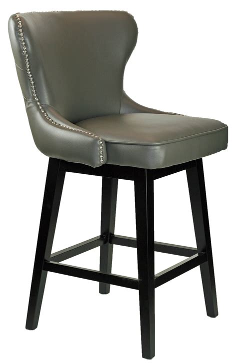 Grey Leather Swivel Bar Stools by Bar Stools Kitchen Counter Stools R 8707 Grey Leather