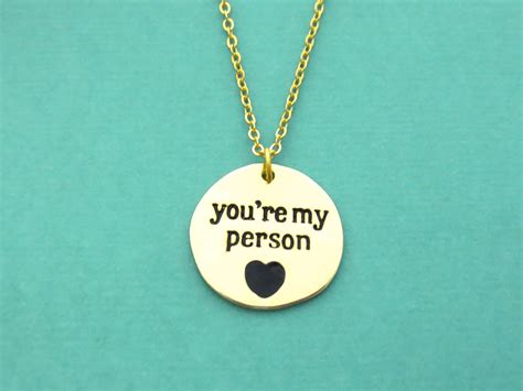 you re my person gold necklace grey s