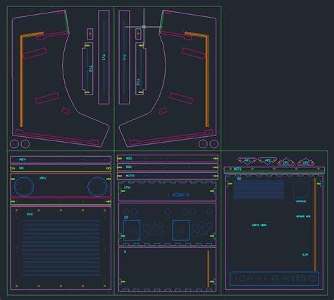 Bartop Arcade Machine Plans Plan De D 233 Coupe Sous Autocad De La Borne D Arcade Bartop 2