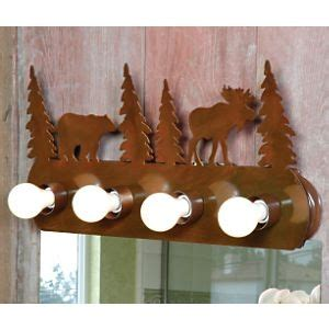 Moose And Bathroom Decor by Moose Vanity Light Fixture 4 Light For The Home