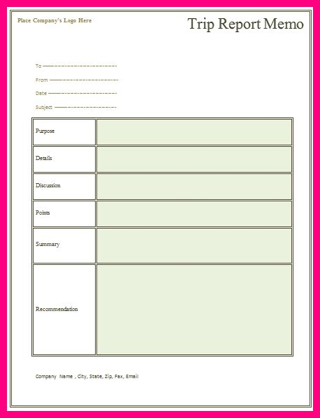 business trip report template word 13 business trip report template