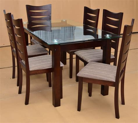 wood dining table with glass top home design