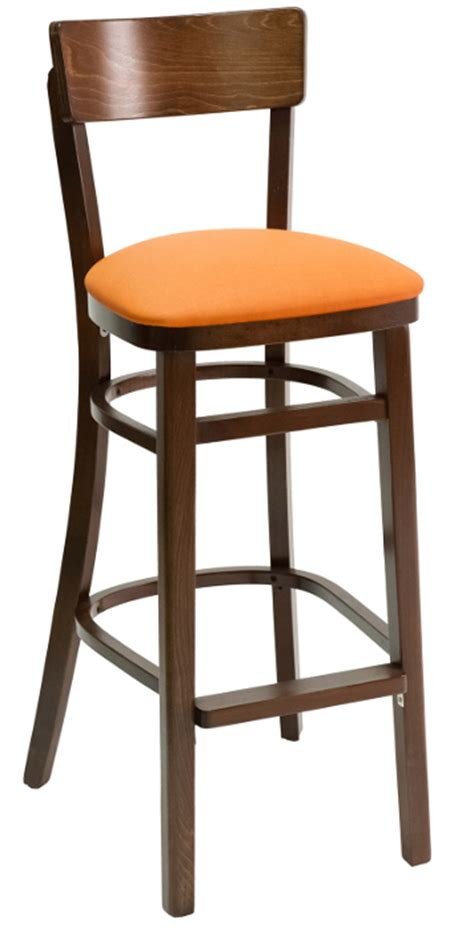 Narrow Stools by Walnut Series Narrow Back Wood Restaurant Bar