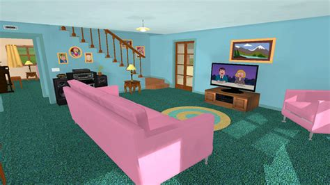 Apartment Living Room Layout family guy s griffin house recreated in vr vrfocus