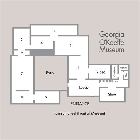 gallery floor plan gallery floor plan georgia o keeffe museum