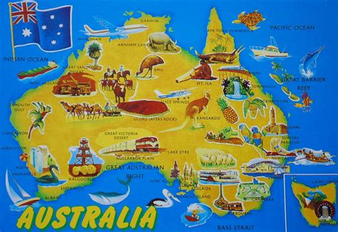 australia tourist map largest most detailed australia map and flag travel