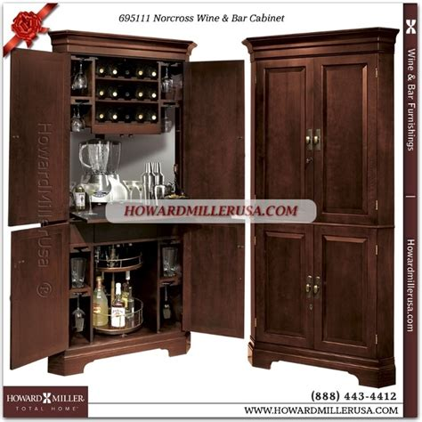 695111 howard miller wine bar corner cabinet in cherry