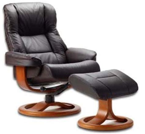 Scandinavian Recliner by Fjords 855 Loen Large Leather Recliner