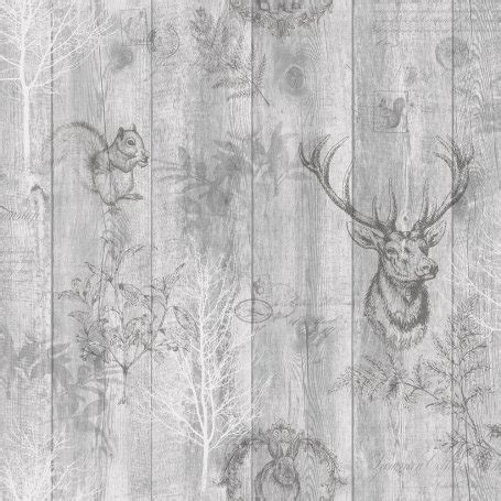 stag wallpaper grey holden decor stag wood panel grey wallpaper 90090