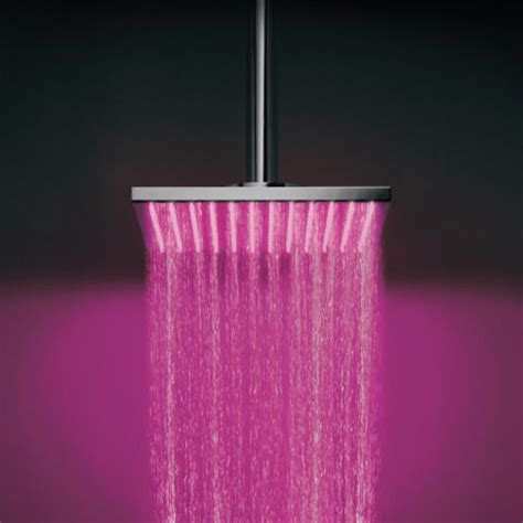 rain shower head with lights vichy inspired ceiling mounted overhead shower with led