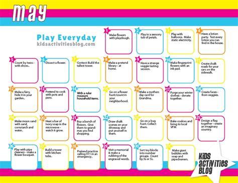 printable daily activity calendar calendar each day activities and fine motor
