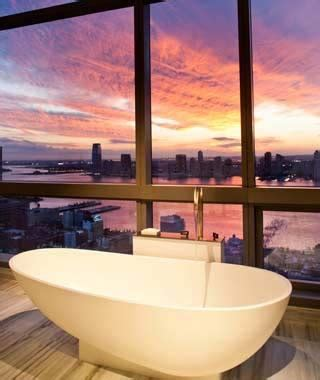 trump soho bathroom best hotel bathroom views travel leisure