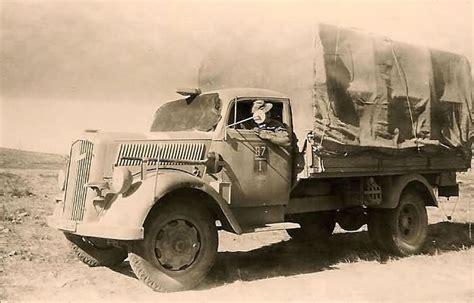 opel blitz ww2 afrika korps unit marked opel blitz truck lkw world war