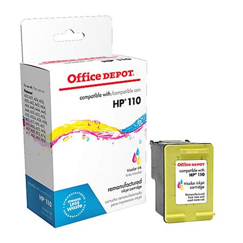 Office Depot Ink Cartridges by Office Depot Brand Od110 Hp 110 Remanufactured Tricolor