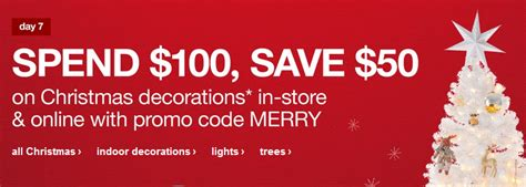 target 50 off 100 christmas purchase with coupon code