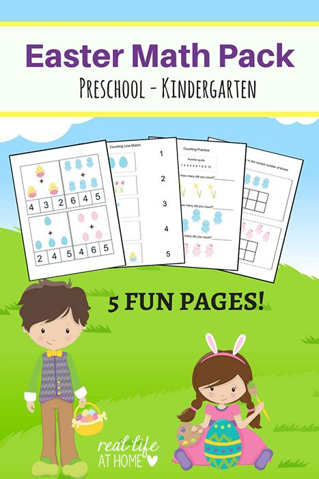 easter games packet printable games easter math worksheets packet for preschool and