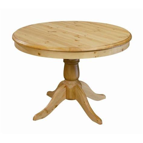 table ronde en pin massif table ronde en pin 110 cm avec rallonge 40 cm achat