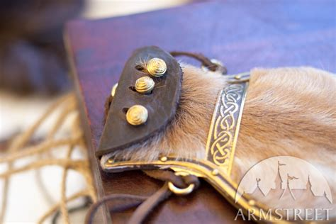 vikings leather pouch   brass  medieval store armstreet