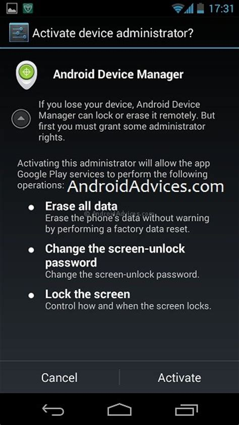 android device administrator how to lock wipe your android phone with device manager