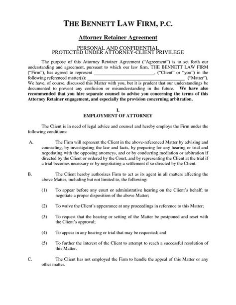 Retainer Agreement Letter Sle 25 Best Retainer Agreement Ideas On