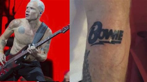red chili peppers flea has gotten a tattoo to honour