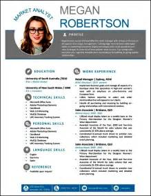modern cv template free free modern resume templates for word free sles
