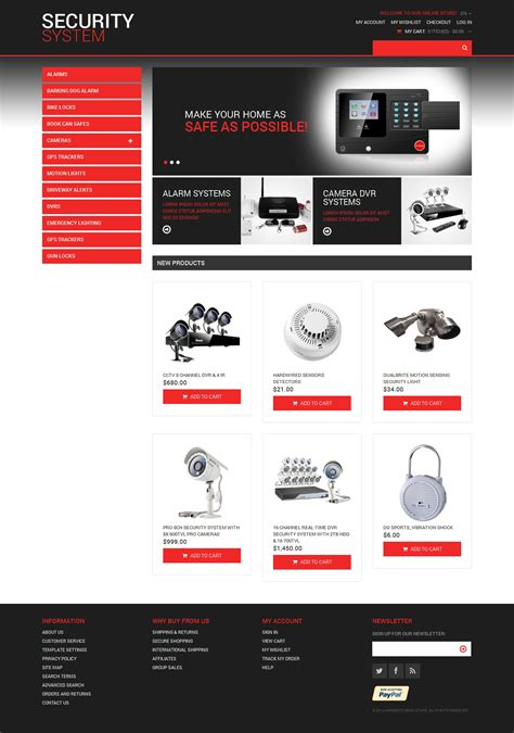 security template magento theme properhost