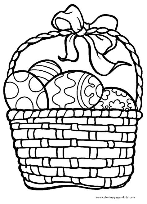 coloring pages for easter basket easter basket outline clipart best