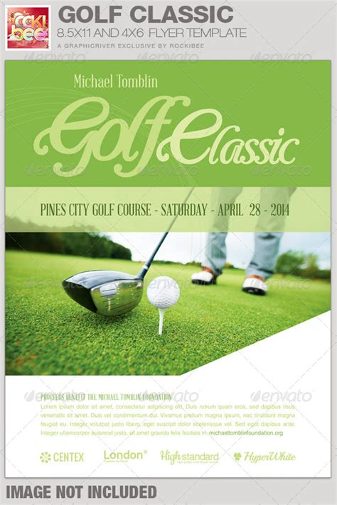 golf classic event flyer template event flyer templates