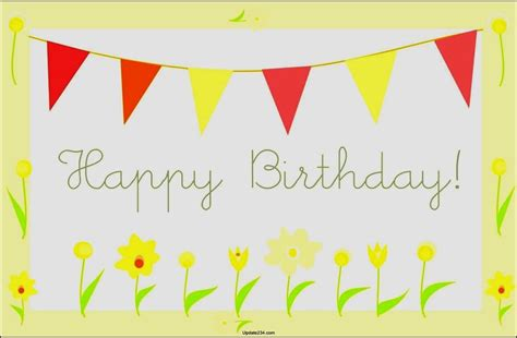 happy birthday card template free download template