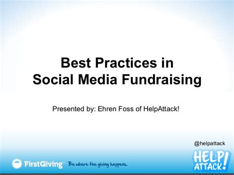 Fundraising Letter Best Practices Best Practices In Social Media Fundraising
