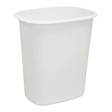 waste depot umbra brim 13 gal plastic touchless waste basket 084200 125 the home depot