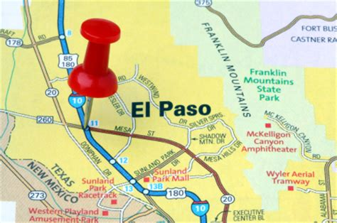 el paso on a map tickle the wireel paso named safest city in u s just