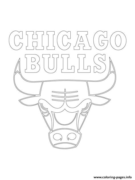 nba bulls coloring pages chicago bulls logo nba sport coloring pages printable