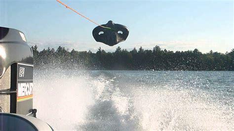 flying boat tube video sevylor manta ray kite tube tubing flying tube at 55mph
